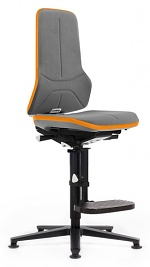 BIMOS - 9571-SP01-3279-811 - Work chair Neon 3, with glider and ascent aid, Flexband orange, Synchrontechnik - with Supertec upholstery, WL42990