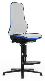 BIMOS - 9571E-9999-3277 - ESD Chair Neon 3, with glider and climbing aid, Flexband blue, Synchrontechnik, WL31077
