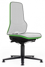 BIMOS - 9570E-9999-3280 - ESD Chair Neon 1 with glider, Flexband green - Synchrontechnik, WL31084