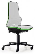BIMOS - 9563E-9999-3280 - ESD Chair Neon 2 with castors Flexband green, permanent contact, WL29146