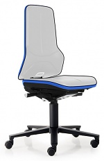 BIMOS - 9563E-9999-3277 - ESD Chair Neon 2 with castors Flexband blue, permanent contact, WL31066
