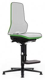 BIMOS - 9561E-9999-3280 - ESD chair Neon 3, glider and climbing aid, Flexband green, permanent contact, WL31082