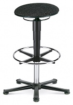 BIMOS - 9469E-9801 - ESD stool 3 with glider and foot ring, fabric Duotec black, WL40374