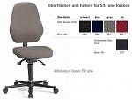 BIMOS - 9158E-9801-3218 - ESD Chair BASIC 2 Plus with castors, fabric Duotec black, synchronous technology and weight adjustment, backrest 530 mm, WL36597