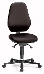 BIMOS - 9155E-9801-3218-807 - ESD chair BASIC 2 Plus with castors, fabric Duotec black, permanent contact and seat inclination, seat-stop castors, backrest 530 mm, WL43112