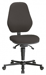 BIMOS - 9155E-9801-3218 - ESD chair BASIC 2 Plus with castors, fabric Duotec black, permanent contact and seat inclination, backrest 530 mm, WL39033