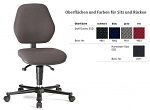 BIMOS - 9151E-9801 - ESD chair BASIC 2 with castors, fabric Duotec black, backrest 430 mm, WL29079