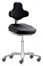 BIMOS - 9103E-2571 - ESD Labster laboratory chair with castors, imitation leather black, WL40404