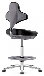 BIMOS - 9101E-2571 - ESD Labster laboratory chair, with glider and foot ring, imitation leather black, WL40406