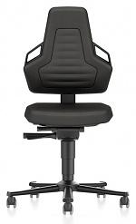 BIMOS - 9033E-CP01-3218 - ESD Stuhl NEXXIT 2 mit Rollen, Supertec schwarz mit Griffe, WL43862