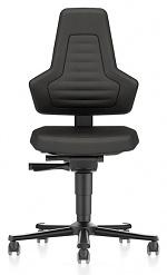 BIMOS - 9033E-CP01-3001 - ESD Stuhl NEXXIT 2 mit Rollen, Supertec schwarz ohne Griffe, WL43926