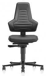 BIMOS - 9033E-2000-3001 - ESD chair NEXXIT 2 with castors, integral foam black without handles, WL43925