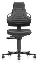 BIMOS - 9033-MG01-3285 - Laboratory chair NEXXIT 2 with castors, imitation leather, anthracite handles, WL43900