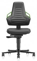 BIMOS - 9033-2000-3280 - Laboratory chair NEXXIT 2, with castors integral foam, handles green, WL43907