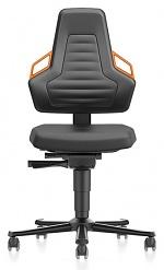 BIMOS - 9033-2000-3279 - Laboratory chair NEXXIT 2, with castors integral foam, orange handles, WL43906