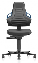 BIMOS - 9033-2000-3277 - Laboratory chair NEXXIT 2, with castors integral foam, handles blue, WL43904