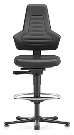 BIMOS - 9031E-MG01-3001 - ESD chair NEXXIT 3, with glider and foot ring, imitation leather black, without handles, WL43928