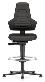 BIMOS - 9031E-CP01-3001 - ESD chair NEXXIT 3, with glider and foot ring, Supertec black, without handles, WL43930