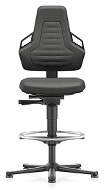 BIMOS - 9031E-9801-3218 - ESD chair NEXXIT 3, with glider and foot ring, fabric Duotec black, with handles, WL43870