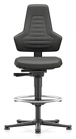 BIMOS - 9031E-9801-3001 - ESD chair NEXXIT 3, with glider and foot ring, fabric Duotec black, without handles, WL43927