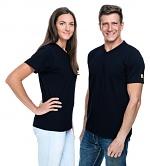 SAFEGUARD - SafeGuard PRO - ESD T-Shirt V-neck black, 150g/m², XS, WL43944