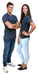 SAFEGUARD - SafeGuard PRO - ESD T-Shirt V-neck dark grey, 150g/m², XS, WL39648