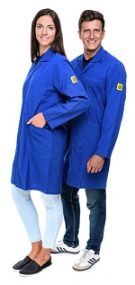 SAFEGUARD - Eco Line - 3XS - ESD work coat Eco Line, dark blue, 3XS, WL41099