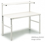TRESTON - TPH715 ESD - ESD TPH Work table with shelf board, manually adjustable with Allen screws, light grey, 1500 x 700 mm, WL37042