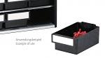 TRESTON - L-61-4ESD - ESD single drawer, 69x170x40 mm, black, WL36939