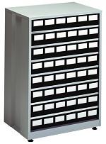 TRESTON - 4840 ESD - ESD-Schubladenmagazin groß, 48 Schubladen, 605x410x870 mm, schwarz, WL36951