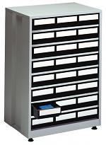 TRESTON - 2440 ESD - ESD-Schubladenmagazin groß, 24 Schubladen, 605x410x870 mm, schwarz, WL36950