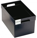 TRESTON - 10-36L-4ESD - ESD visual storage box, 323x508x280 mm, black, WL36812