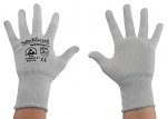 SAFEGUARD - SG-grey-JCA-100-S - ESD glove grey/whitex without coating, Nylon/Carbon, S, WL37434