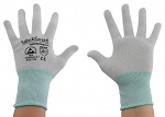 SAFEGUARD - SG-grey-JCA-100-M - ESD glove grey/turquoise, without coating, nylon/carbon, M, WL37435