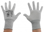 SAFEGUARD - SG-grey-JCA-100-L - ESD glove grey/light grey, without coating, Nylon/Carbon, L, WL37436