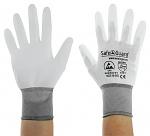 SAFEGUARD - SG-white-JNW-302-XXL - ESD Handschuh weiß/grau, beschichtete Handflächen, Nylon/Carbon, XXL, WL40767