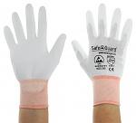 SAFEGUARD - SG-white-JNW-302-XS - ESD Handschuh weiß/orange, beschichtete Handflächen, Nylon/Carbon, XS, WL40761