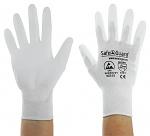 SAFEGUARD - SG-white-JNW-302-S - ESD Handschuh weiß, beschichtete Handflächen, Nylon/Carbon, S, WL40763