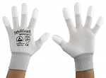 SAFEGUARD - SG-white-JNW-202-XXL - ESD glove white/light grey, coated fingertips, XXL, WL37432