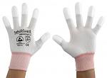 SAFEGUARD - SG-white-JNW-202-XS - ESD Handschuh weiß/orange, beschichtete Fingerkuppen, XS, WL37427