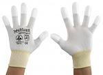 SAFEGUARD - SG-white-JNW-202-XL - ESD glove white/yellow, coated fingertips, XL, WL37431