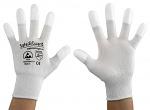 SAFEGUARD - SG-white-JNW-202-S - ESD Handschuh weiß, beschichtete Fingerkuppen, S, WL37428