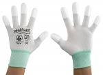SAFEGUARD - SG-white-JNW-202-M - ESD glove white/turquoise, coated fingertips, M, WL37429