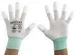 SAFEGUARD - SG-white-JNW-202-M - ESD Handschuh weiß/türkis, beschichtete Fingerkuppen, M, WL37429
