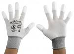SAFEGUARD - SG-white-JNW-202-L - ESD Handschuh weiß/grau, beschichtete Fingerkuppen, L, WL37430