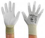 SAFEGUARD - SG-grey-JCA-302-XL - ESD Handschuh grau/gelb, beschichtete Handflächen, Nylon/Carbon, XL, WL39625