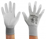 SAFEGUARD - SG-grey-JCA-302-L - ESD glove grey/light grey, coated palms, nylon/carbon, L, WL39623