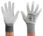 SAFEGUARD - SG-grey-JCA-302-XXL - ESD Handschuh grau/dunkelgrau, beschichtete Handflächen, Nylon/Carbon, XXL, WL39626