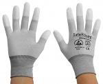 SAFEGUARD - SG-grey-JCA-202-XXL - ESD Handschuh grau/dunkelgrau, beschichtete Fingerkuppen, Nylon/Carbon, XXL, WL36566