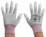 SAFEGUARD - SG-grey-JCA-202-XS - ESD Handschuh grau/beere, beschichtete Fingerkuppen, Nylon/Carbon, XS, WL36846